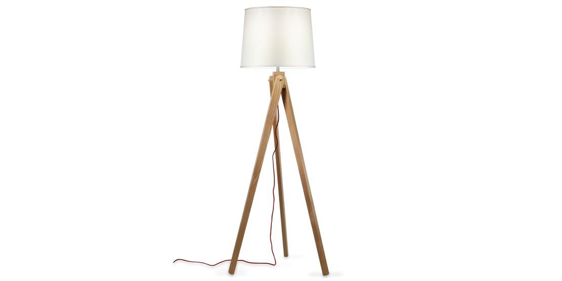 glsarredoufficio - Art. 0102 LAMPADA DA TERRA IN LEGNO